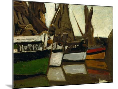 Fishing Boats, Honfleur, 1866-Claude Monet-Mounted Giclee Print