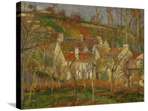Red Roofs, a Village Corner, Winter, 1877-Camille Pissarro-Stretched Canvas Print