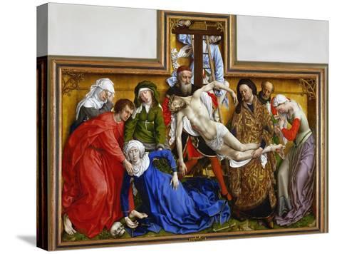Deposition, circa 1436-Rogier van der Weyden-Stretched Canvas Print