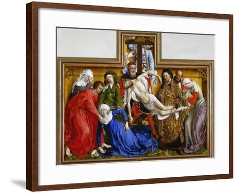 Deposition, circa 1436-Rogier van der Weyden-Framed Art Print