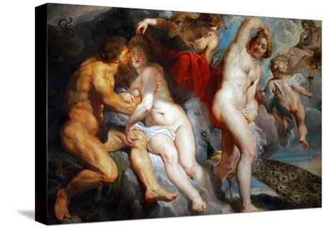 Ixion, King of the Lapiths, Deceived by Juno-Peter Paul Rubens-Stretched Canvas Print