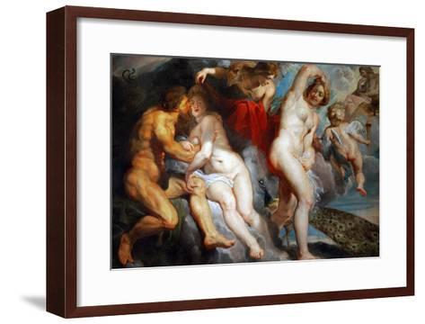 Ixion, King of the Lapiths, Deceived by Juno-Peter Paul Rubens-Framed Art Print
