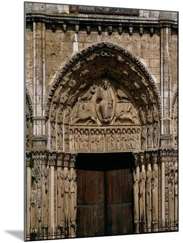 The West or Royal Portal, Center: Christ on the Book of Revelation, and Four Beasts, Around 1145--Mounted Giclee Print