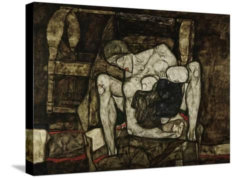 Blind Mother or the Mother, 1914-Egon Schiele-Stretched Canvas Print