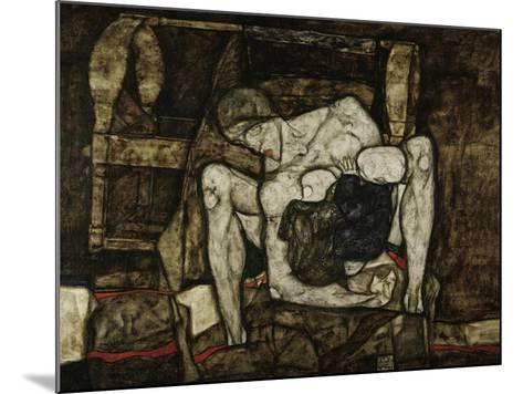 Blind Mother or the Mother, 1914-Egon Schiele-Mounted Giclee Print
