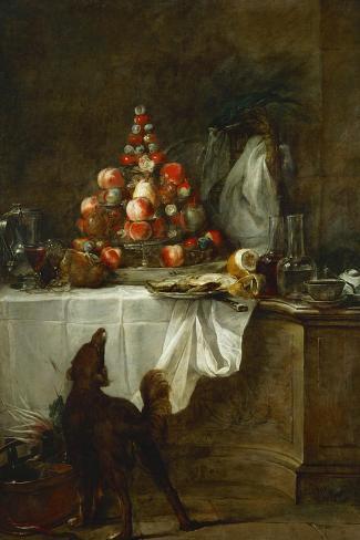 The Buffet, 1728-Jean-Baptiste Simeon Chardin-Stretched Canvas Print