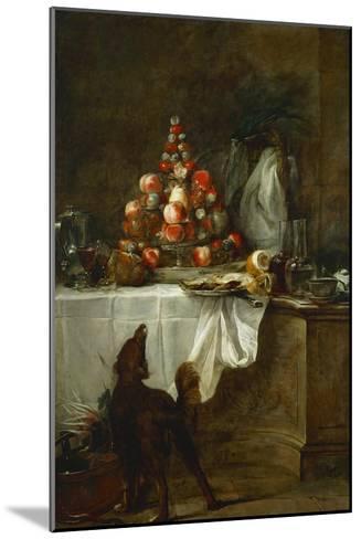 The Buffet, 1728-Jean-Baptiste Simeon Chardin-Mounted Giclee Print