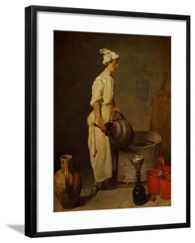 The Waiter, Around 1738-Jean-Baptiste Simeon Chardin-Framed Art Print