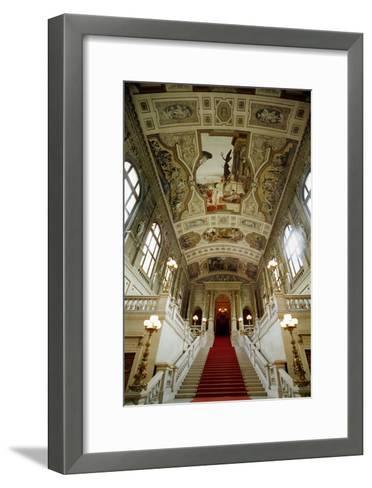 Staircase with Theatre in Taormina, 1884-Gustav Klimt-Framed Art Print