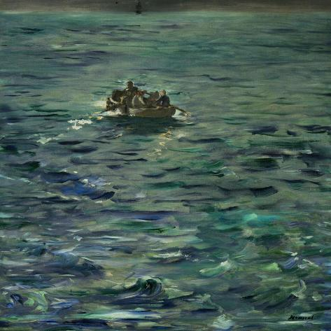 The Escape of Henri Rochefort (1831-1913)-Edouard Manet-Stretched Canvas Print