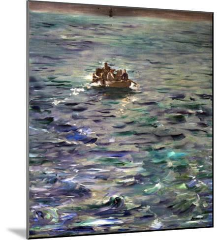 The Escape of Henri Rochefort (1831-1913)-Edouard Manet-Mounted Giclee Print