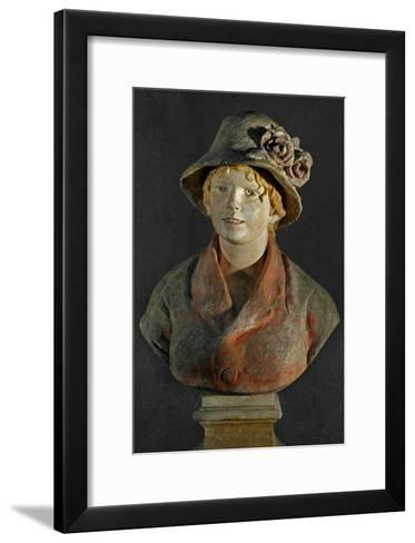 Mme. Aline Renoir, Polychrome Terracotta, in Cooperation with Richard Guino-Pierre-Auguste Renoir-Framed Art Print