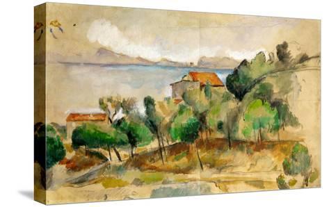 The Bay of L'Estaque, 1878-1882-Paul C?zanne-Stretched Canvas Print