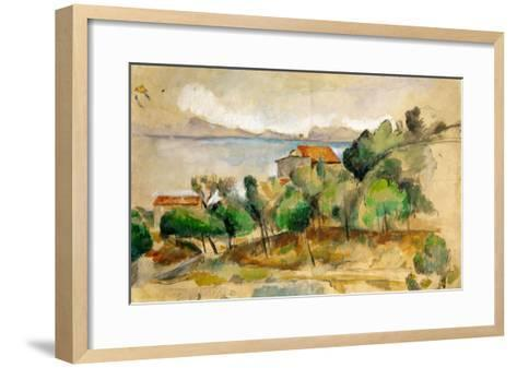 The Bay of L'Estaque, 1878-1882-Paul C?zanne-Framed Art Print