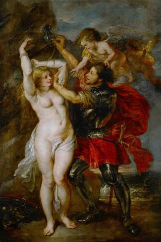 Andromeda Liberated by Perseus-Peter Paul Rubens-Stretched Canvas Print