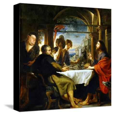 The Dinner at Emmaus-Peter Paul Rubens-Stretched Canvas Print