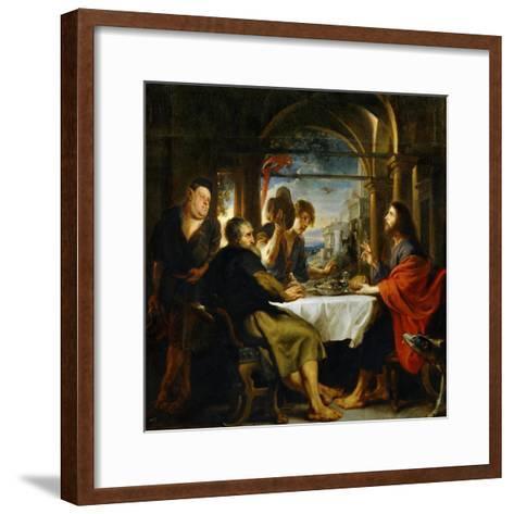 The Dinner at Emmaus-Peter Paul Rubens-Framed Art Print
