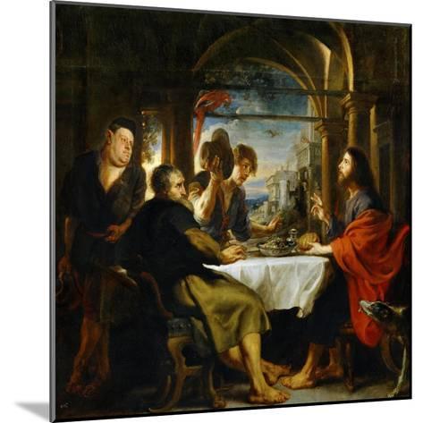 The Dinner at Emmaus-Peter Paul Rubens-Mounted Giclee Print