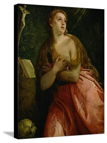 Mary Magdalen Penitent, 1583-Paolo Veronese-Stretched Canvas Print
