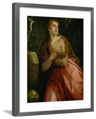 Mary Magdalen Penitent, 1583-Paolo Veronese-Framed Art Print
