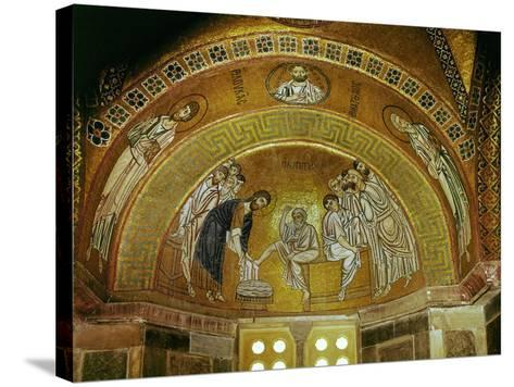 Christ Washing the Feet of an Apostle, Mosaic at the North End of the Narthex--Stretched Canvas Print