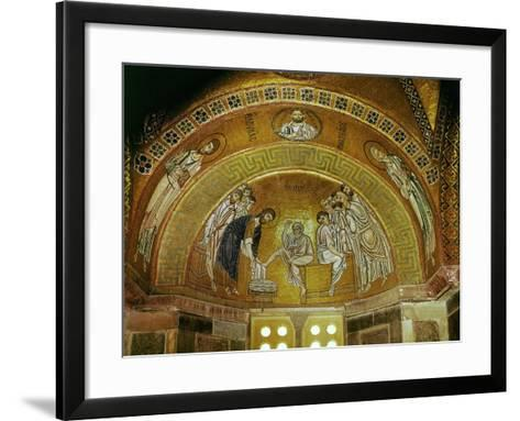 Christ Washing the Feet of an Apostle, Mosaic at the North End of the Narthex--Framed Art Print