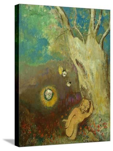 Caliban's Sleep (Shakespeare, the Tempest), 1895-1900-Odilon Redon-Stretched Canvas Print