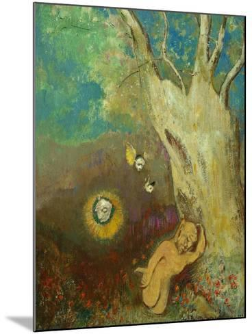 Caliban's Sleep (Shakespeare, the Tempest), 1895-1900-Odilon Redon-Mounted Giclee Print
