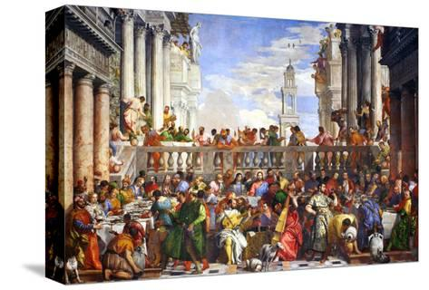 The Wedding at Cana (Post-Restoration)-Paolo Veronese-Stretched Canvas Print