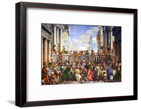 The Wedding at Cana (Post-Restoration)-Paolo Veronese-Framed Art Print