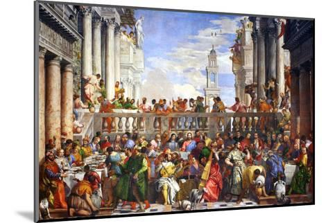 The Wedding at Cana (Post-Restoration)-Paolo Veronese-Mounted Giclee Print