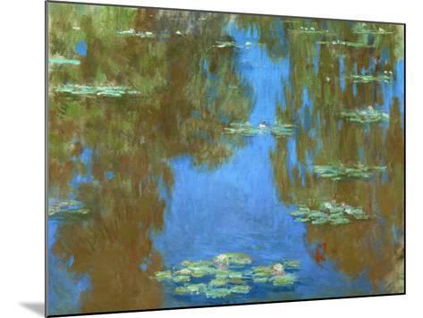 Nympheas (Waterlilies), 1903-Claude Monet-Mounted Giclee Print