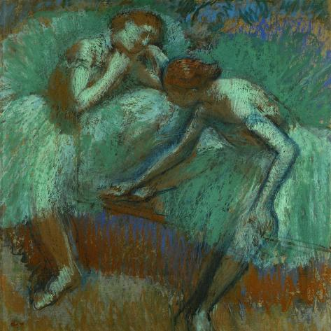The Large Green Dancers, 1898-1900-Edgar Degas-Stretched Canvas Print