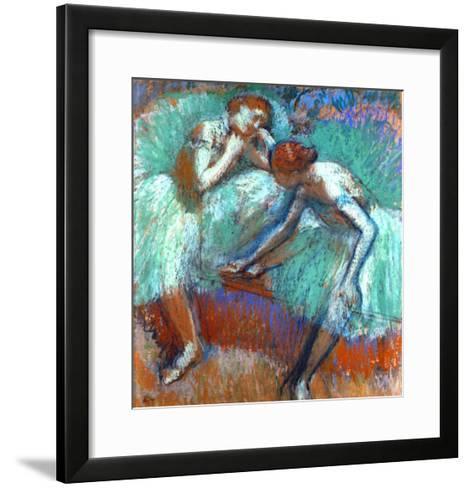 The Large Green Dancers, 1898-1900-Edgar Degas-Framed Art Print