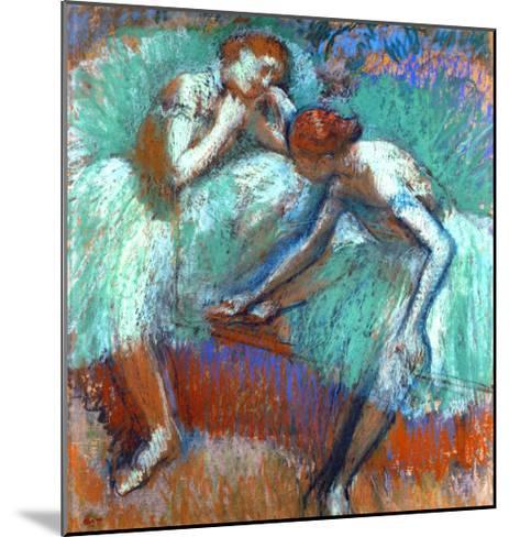 The Large Green Dancers, 1898-1900-Edgar Degas-Mounted Giclee Print
