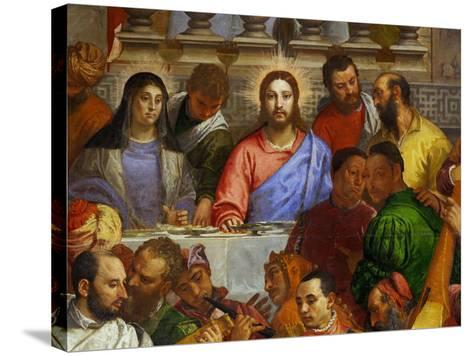 The Wedding at Cana, from the Benedictine Convent of San Giorgio Maggiore, Venice-Paolo Veronese-Stretched Canvas Print