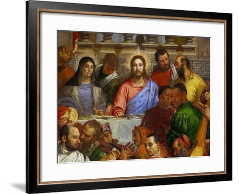 The Wedding at Cana, from the Benedictine Convent of San Giorgio Maggiore, Venice-Paolo Veronese-Framed Art Print