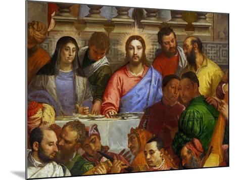The Wedding at Cana, from the Benedictine Convent of San Giorgio Maggiore, Venice-Paolo Veronese-Mounted Giclee Print