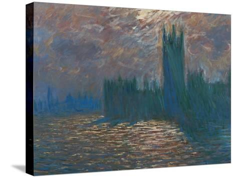 London, the Parliament; Reflections on the Thames River, 1899-1901-Claude Monet-Stretched Canvas Print