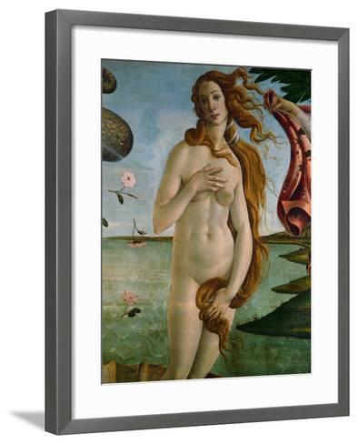 Birth of Venus (Detail of Venus), 1486, Tempera on Canvas-Sandro Botticelli-Framed Art Print