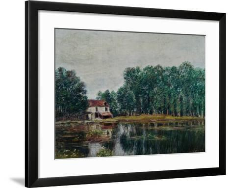 Along the Canal at Moret-Sur-Loing, 1892-Alfred Sisley-Framed Art Print