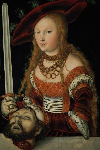 Judith with the Head of Holofernes-Lucas Cranach the Elder-Stretched Canvas Print