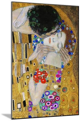 The Kiss, Der Kuss, Close-Up of Heads-Gustav Klimt-Mounted Giclee Print