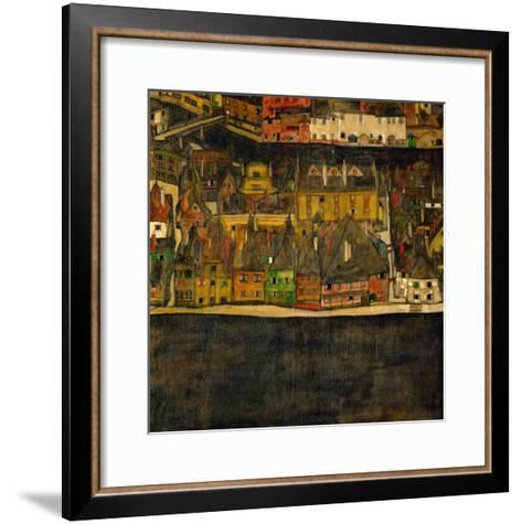 Die Kleine Stadt (II) or Kleine Stadt (III) Assembled from Separate Parts-Egon Schiele-Framed Art Print