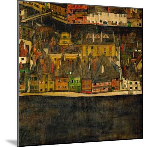 Die Kleine Stadt (II) or Kleine Stadt (III) Assembled from Separate Parts-Egon Schiele-Mounted Giclee Print