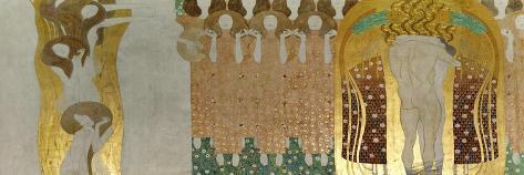 The Beethoven Frieze-Gustav Klimt-Stretched Canvas Print