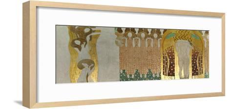 The Beethoven Frieze-Gustav Klimt-Framed Art Print