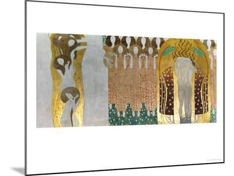 The Beethoven Frieze-Gustav Klimt-Mounted Giclee Print