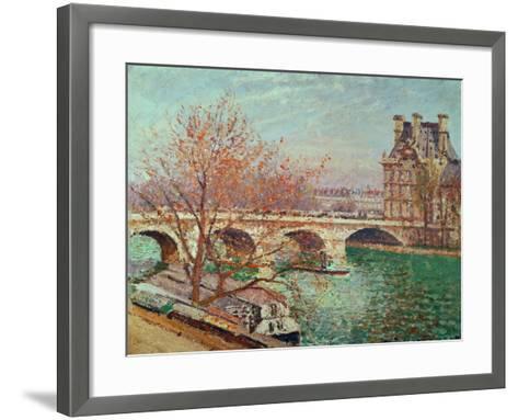 Pont Royal and the Pavillon De Flore, 1903-Camille Pissarro-Framed Art Print