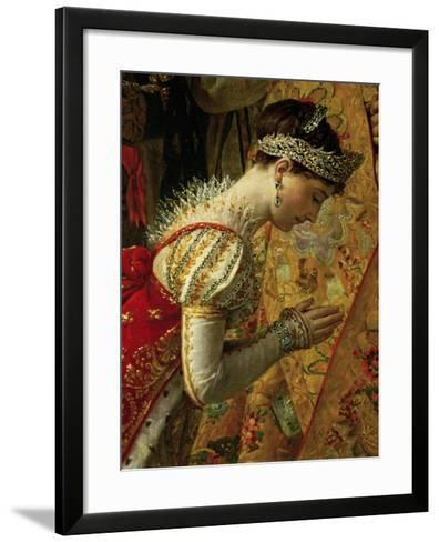 The Coronation of Emperor Napoleon I Bonaparte-Jacques-Louis David-Framed Art Print